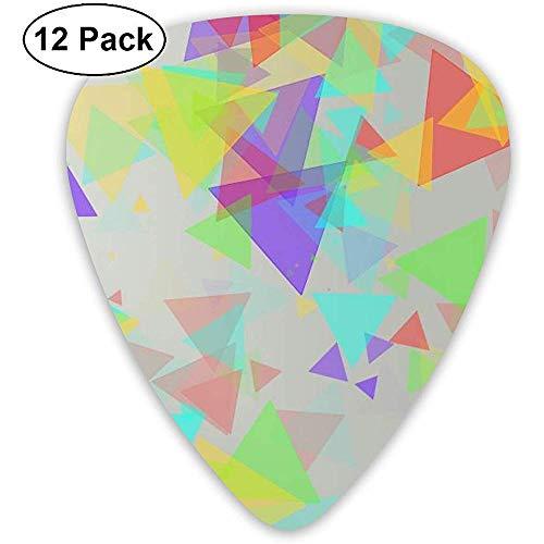 Juego púas guitarra triángulo color transparente