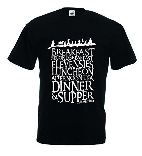 Settantallora - T-shirt Maglietta J1109 The Hobbit Diet Taglia L