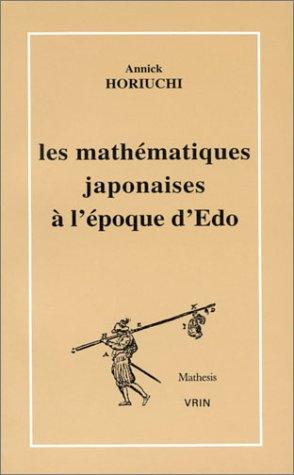 Les mathématiques japonaises à l'époque d'Edo