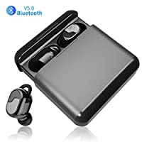 Wireless Headphones GRDE Bluetooth V5.0 TWS Mini In-ear Earphones CVC8.0 Noise Cancelling Stereo Sports Headset with 3200mAh Charging Box Built in Mic Deep Bass Wireless Earbuds for iPhone Android