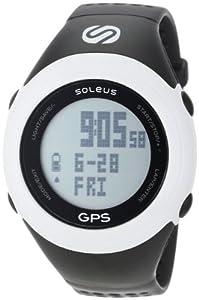 Soleus Fit GPS de course à pied homme Noir/Blanc