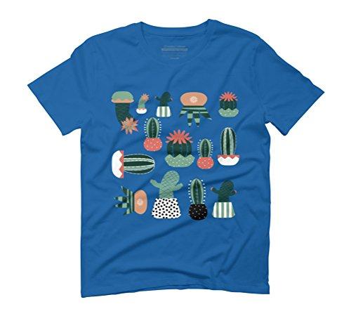 Succulents Men's Graphic T-Shirt - Design By Humans Royal Blue
