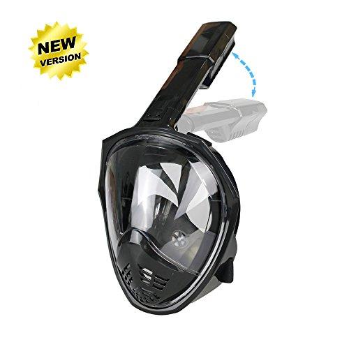Maschera panoramica full face snorkel, zmztec 2018 nuova maschera da snorkeling pieghevole, anti-nebbia e anti-leak, vista grande maschera di respirazione gratuita (l/xl)