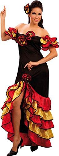 Boland 83529 - Erwachsenen Kostüm Rumba Tänzerin, Größe 40/42, mehrfarbig (Rumba Kostüm)