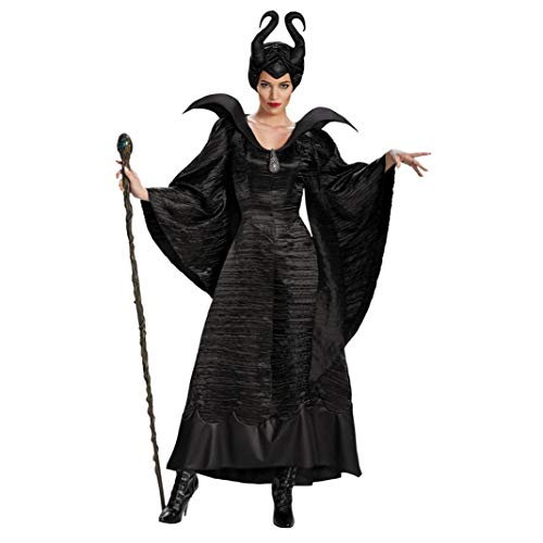 Halloween-Dekoration, Damen, Hörner, dunkle Hexe, Kleid, Hut, Brosche, Party, Cosplay, Halloween, Kostüm-Requisiten, (Dunkle Hexe Übergröße Kostüm)