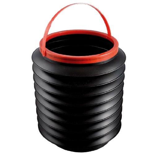 Sourcingmap Envase Plastico Negro Plegable 4L Cubo