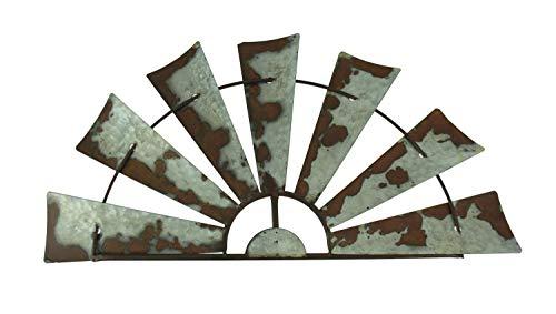 Silber-finish Metall-kopfteil (Zeckos Windmühle, rostfrei, verwittert, Metall)
