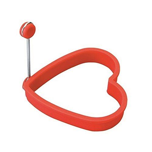 Lacor 68082 - Molde huevo corazón, silicona, rojo width=