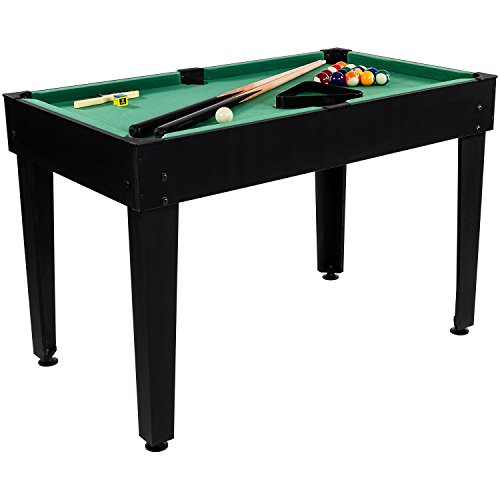 Maxstore Multigame Spieletisch Mega 15 in 1, inkl. komplettem Zubehör, Spieltisch mit Kickertisch, Billardtisch, Tischtennis, Speed Hockey uvm. in schwarzem Holzdekor - 2