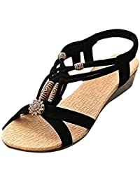 Damen Sommer Schuhe Xinan Peep Toe Flache Schnalle