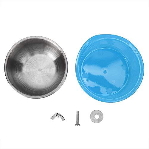 Naroote Haustier-Zufuhr, Vogel-Papageien-Zufuhr Einfach installieren Sie Nahrungsmittelwasser-einziehende Schale für Haustier-Versorgungsmaterialien(Blau) (Puzzle Schale Für Hunde)
