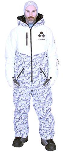 Oneskee Mark III Herren Snowboard Schianzug Camouflage weiß M5