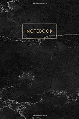 Notebook: Black Marble - Notizbuch in moderner Marmor Optik   ca. DIN A5 (6x9\'\'), blanko, 108 Seiten, Schwarzer Marmor mit Gold   für Notizen, Termine ... Organizer, Kalender, Semesterplaner, Journal