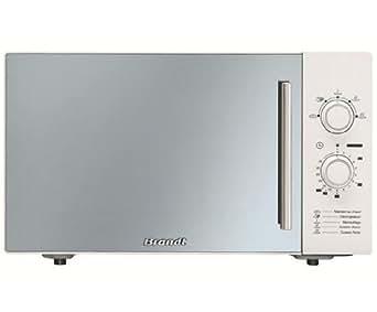 Brandt - sm2603w - Four à micro-ondes 26l 900w blanc miroir