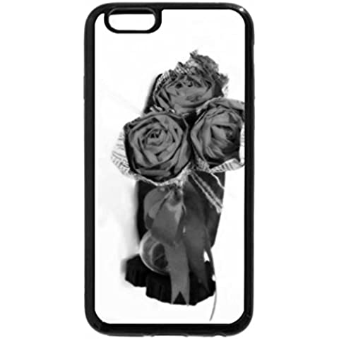iPhone 6S Case, iPhone 6 Case (Black & White) - Rosette