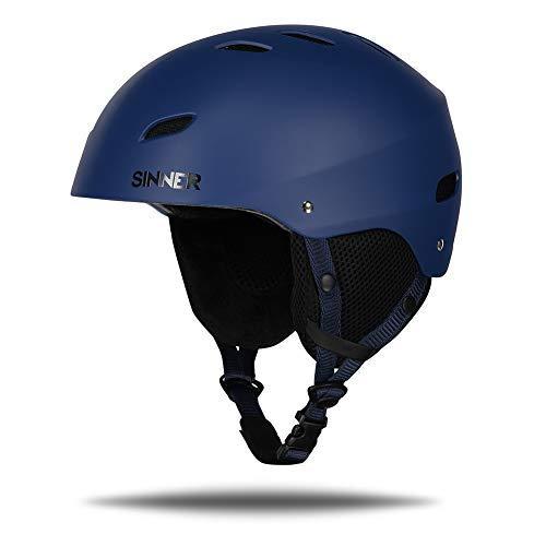 Sinner Skihelm fur ski und Snowboard fur Herren und Damen - Schwarz, Verstellbare Größe (Blau, s)