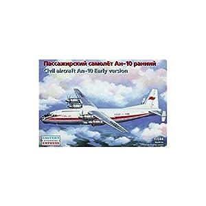 """Ark Models EE14484 - Escala 1:144 """"Antonov An-10 Rusa Haul Passenger Aircraft/Early Version Modelo de plástico (tamaño Mediano)"""