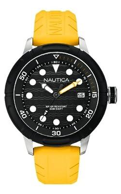 Nautica A16634G - Reloj de pulsera hombre, caucho, color amarillo de Nautica