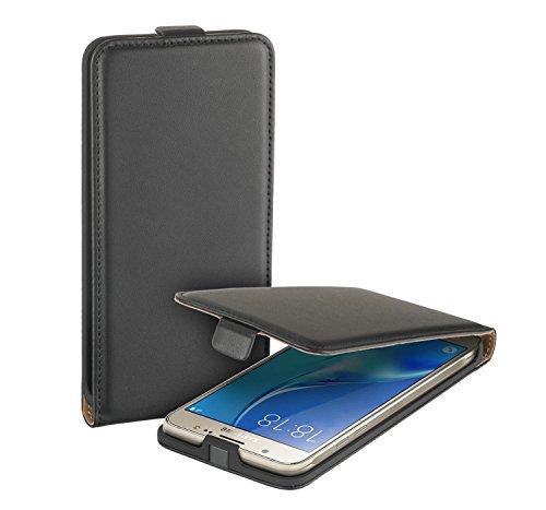 yayago Flip Eco Case für Samsung Galaxy J5 2016 (SM-J510F) Hülle Kunstleder Schwarz ( NICHT geeignet für Samsung Galaxy J5 von 2015 ( SM-J500F)