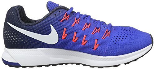 Nike Air Zoom Pegasus 33, Scarpe da Corsa Uomo Azul (Racer Blue / White-Midnight Navy-Blue Glow)