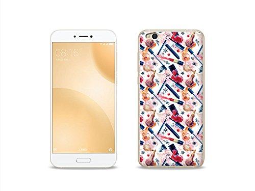 etuo Xiaomi Mi5C - Hülle Fantastic Case - Zeit für Make up - Handyhülle Schutzhülle Etui Case Cover Tasche für Handy
