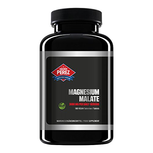Magnesium Malate 3000 pro Dosis - 180 Vegane Tabletten