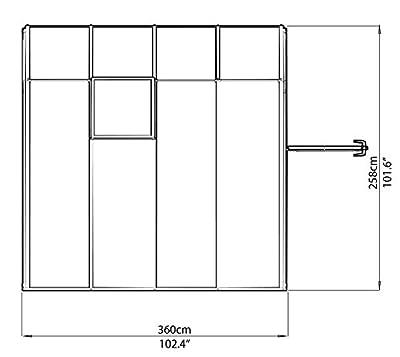 """RION Kunststoff Anlehngewächshaus / Wintergarten """"Sun Room 44"""" (259 x 257 x 267cm BxTxH) + Dachfenster … von Rion - Du und dein Garten"""