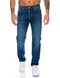 Lorenzo Loren Herren Jeans Hose Denim Jeans Used-Look Regular-Fit W29-W44 L30-L38