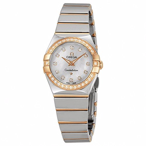 OMEGA WOMEN'S CONSTELLATION DIAMOND 24MM QUARTZ WATCH 123.25.24.60.55.005
