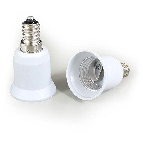 Preisvergleich Produktbild [lux.pro] E14 Adapter auf E27 Sockel Leuchtmitteladapter Konverter Glühbirne Adapter Leuchtmitteladapter Adaptersockel Lichtadapter - 1 Stück