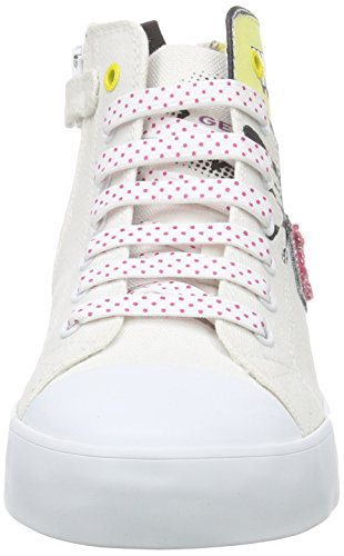 Geox Jr Ciak A, Sneakers Hautes Fille Multicolore (C1000)