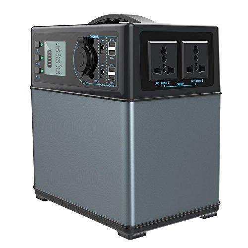 PowerOak PS5 Hochleistungsakku Energiespeicher mit Lithium-Ionen Zellen - Solar Generator - AC 220V 300W zusätzlich 12V, USB und KFZ Ausgang / 2 Jahre Garantie / Premium Qualitat