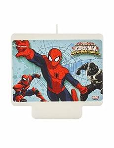 Procos PR87886 - Vela para tartas, diseño de Spiderman, multicolor