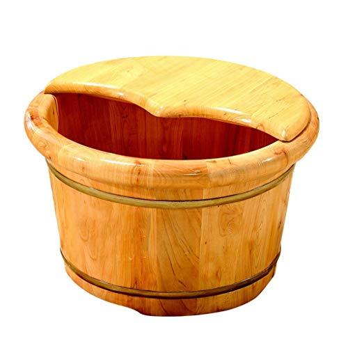 Huichao Grande Vasca da Bagno con pediluvio Detox e Massaggio Perfetta per bagnare i Piedi Le Unghie dei Piedi e Le Caviglie,Brown piedistallo in plastica Robusta per Pedicure
