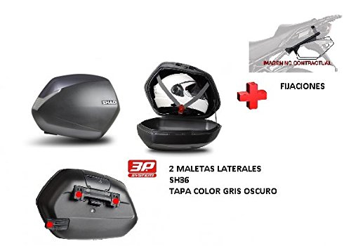 KIT SHAD fijacion + maletas later. tapa gris os SH36