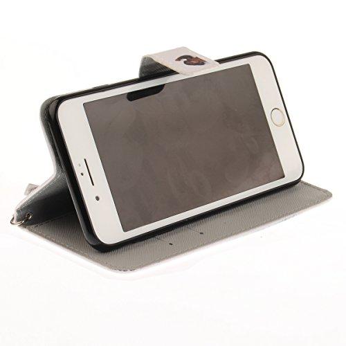 Coque iPhone 7 Plus, iPhone 8 Plus Coque Portefeuille, SainCat Ultra Slim Flip Cover pour iPhone 7/8 Plus, Anti-Scratch Bookstyle Etui en PU Cuir Coque Etui Cuir Cover Coque Cuir Coque Caoutchouc Étui Singe