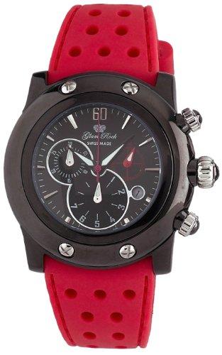 Glam Rock GR10152 - Reloj cronógrafo de Cuarzo para Mujer con Correa de Silicona, Color Rojo
