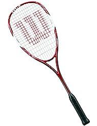 Wilson Tour 150 1/2 Cvr Raqueta de Squash, Unisex Adulto, Rojo / Blanco, Talla Única