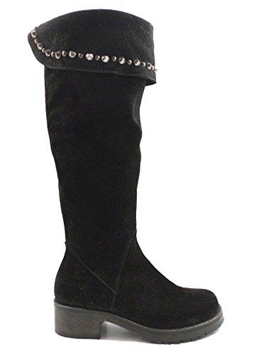 GIANCARLO PAOLI stivali donna 35 EU nero camoscio KY248