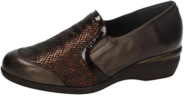 Zapatos salón pico cómodos mujer DOCTOR CUTILLAS - piel negro combinado con gris - 20152 - 70 (38, negro)