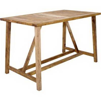 Venice support pour table de bar en teck 170 x 95 cm