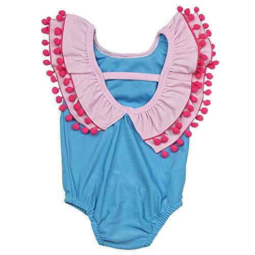 liger Badeanzug, Kleinkind Kinder Mädchen Badeanzug Peter Pan Kragen Kleinkind Bademode einteiliger Badeanzug(70) ()