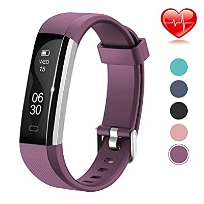 Fitness Tracker, Lintelek Slim Activity Tracker with Heart Rate Monitor, Waterproof Pedometer with Sleep Monitor, Calorie Counter Watch for Kids,Women,and Men, Compatible with Android&iOS by Lintelek
