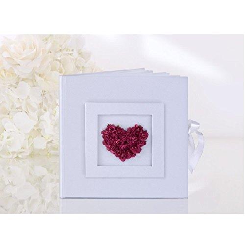 Rote Rosen-Herz-Hochzeits Gästebuch (Parade Rose Toy)