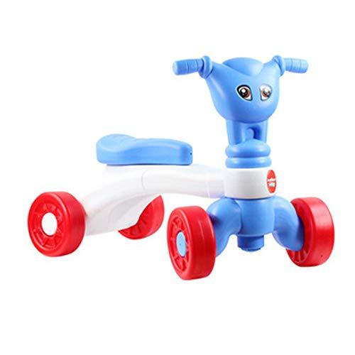 Igemy Kinder Auto Push Fahrrad Walker Baby Balance Spielzeug Reitspielzeug (Blau)