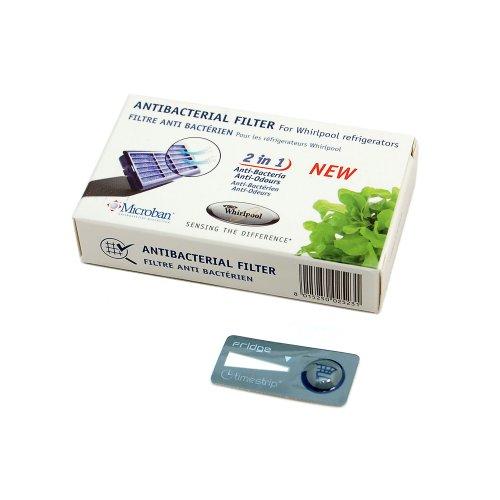 Whirlpool 481248048172, filtro antibacteriano de Microban para neveras Philips Whirlpool