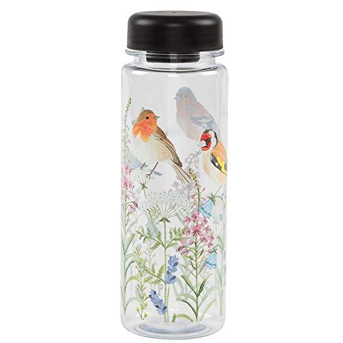Garten Vögel und Blumen Wasser Flasche Schule Gym Picknick BPA-frei (Mundstücke Wasser-flaschen,)
