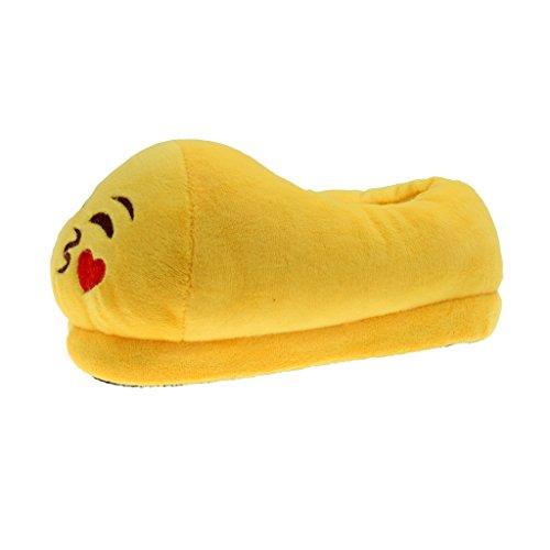 Phenovo Cute Kiss Emoji Pantuflas Cozy Plush Slippers Anti-Slip Home Shoes Kid/20 cm