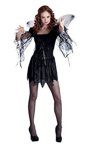 Boland 79044 - Erwachsenenkostüm Dark angel, Gröߟe 36 / 38, schwarz (Ideen Für Einen Dark Angel Kostüm)