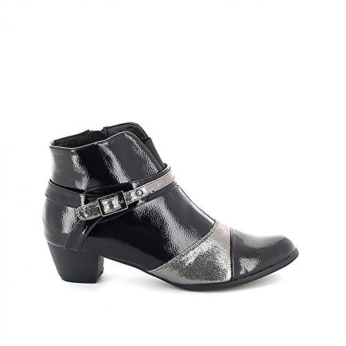 Low-boots pointue vernie Noir